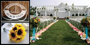 The Chesapeake Beach Club offers a variety of indoor and outdoor settings for weddings and receptions.