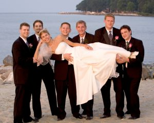 beach at Harrington Harbor provides a beautiful bay view for weddings